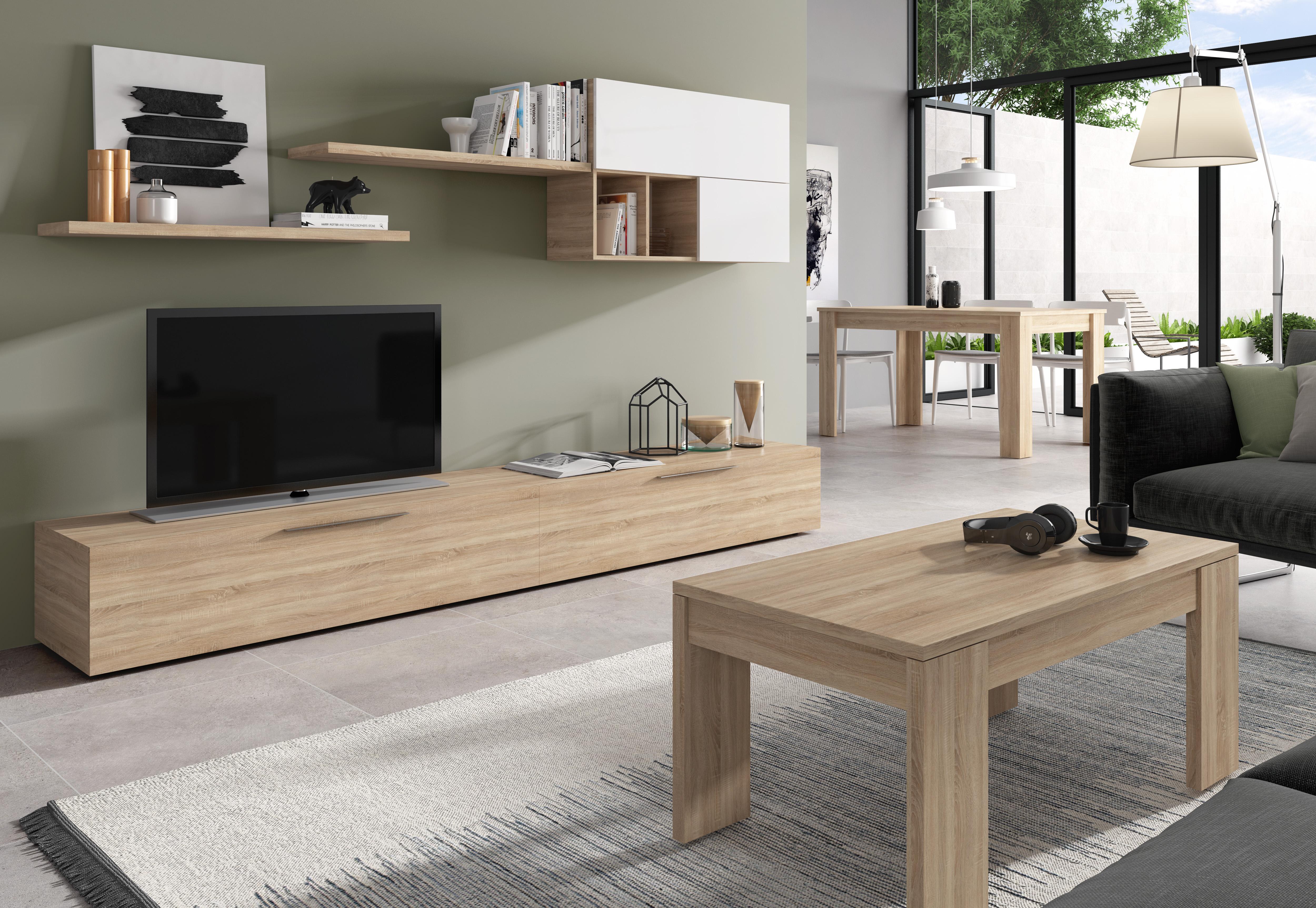 Sal n comedor antara muebles vinaroz tienda muebles barcelona - Pareti porta tv moderne ...